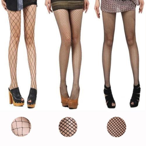 Black Long//Short Fishnet Pantyhose Nylons Hosiery Stockings Neon Retro Costume
