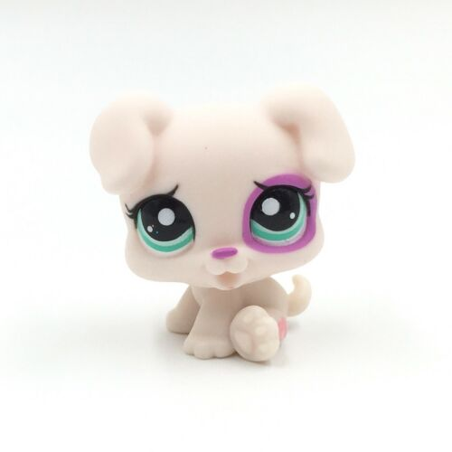 Littlest Pet Shop toys Old LPS dog #1534 white puppy with green Eyes rare toy