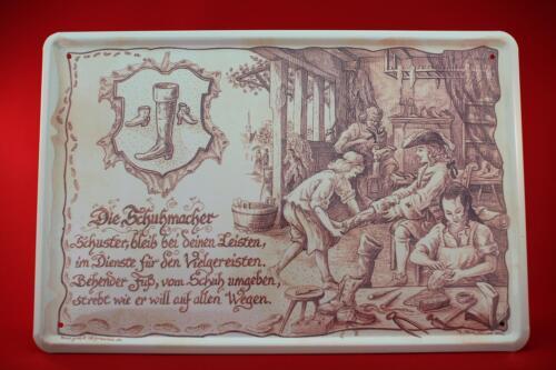 Blechschild Die Schuhmacher 20x30 cm Berufschild  Blechschilder Schuster 25