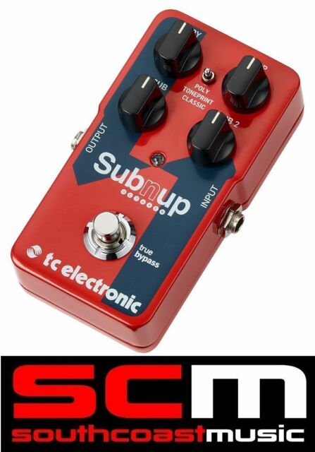 TC Electronic SubNUp Polyphonic Octaver Pedal Toneprint True Bypass Guitar FX