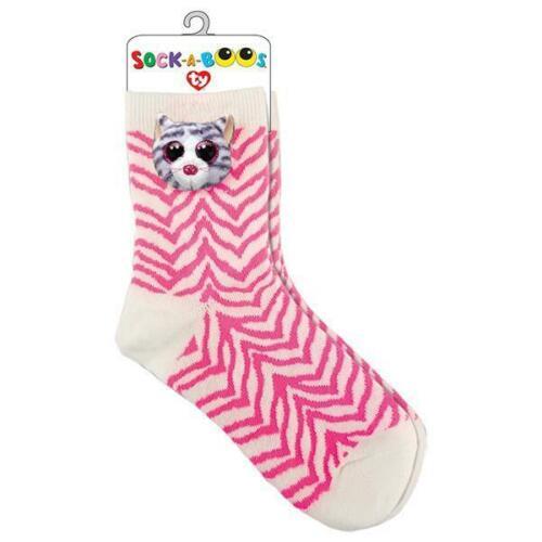 Ty Sock-A-Boos Katze Strümpfe One Size 6-12 Jahre Geschenksäckchen Kiki