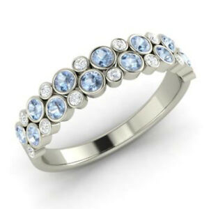 0-91-Ct-Round-Aquamarine-Natural-Diamond-Engagement-Ring-14K-White-Gold-Size-R-S