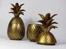 Decorative Gold Pineapple Trinket Pot, Hollywood Regency, Tropical Living Room