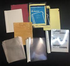 Office School Lot Binder Page Protectors Dividers Report Covers Folders Sleeves