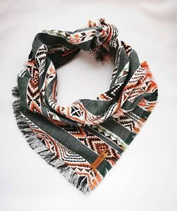 Olive-amp-Pepper-Frayed-Aztec-Puppy-Dog-Bandana-Tie-on-Classic-Scarf-Small-Large