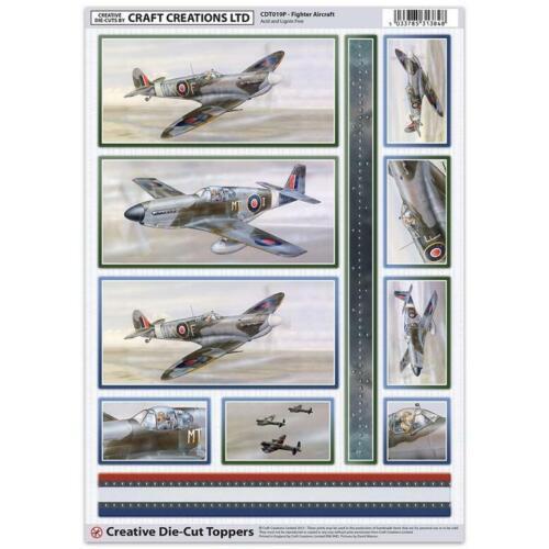 Craft Création Fighter Aircraft Toppers pour Cartes et Artisanat