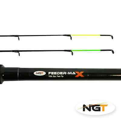 BRAND NEW NGT QUIVER/FEEDER FISHING ROD 10FT 2 TIPS