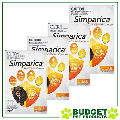 Simparica For Dogs 5.1-10kg Orange Small 9 Chews