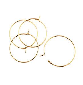 Wine Glass Charm Hoops Wires Earrings Bails Rings DIY Stainless Steel