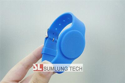 Silicon ID wristbands 125Khz RFID EM4200 buckle bracelet access control 5 colors