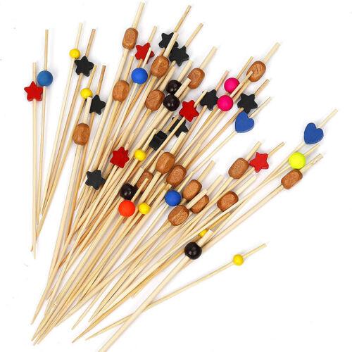 12cm Cocktail Decor Stick Disposable Fruit Stick Bamboo Stick 100 Sticks