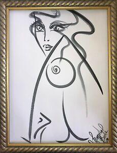 Margarita-Bonke-Malerei-PAINTING-erotic-EROTIK-FRAU-WOMEN-akt-nu-art-black-nude