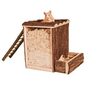 Trixie Natural Living Wooden Mice Hamster Play / Burrow Tower - Small Or Lge Blqn2ljt-10103353-192249746
