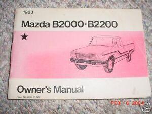 Car Manuals & Literature Vehicle Parts & Accessories 1983 Mazda ...