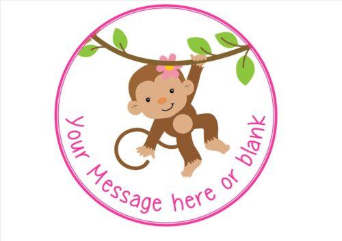 Mono en un árbol nD1 Girl versión Personalizada Redonda Cake Topper Glaseado