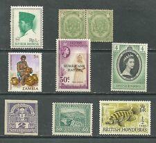 Indonesia  Republik,  British Honduras, Zambia lot 9 -  MNH stamps, pair