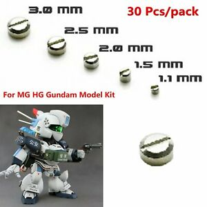30-Metal-Armor-Detail-up-1-1mm-3-0mm-Tornillos-Screw-Para-MG-HG-Gundam-Modelo