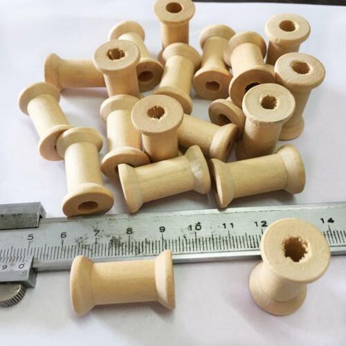 50 Stück Vintage Holzspule Garnspule Fädelspule Nähspule Spule