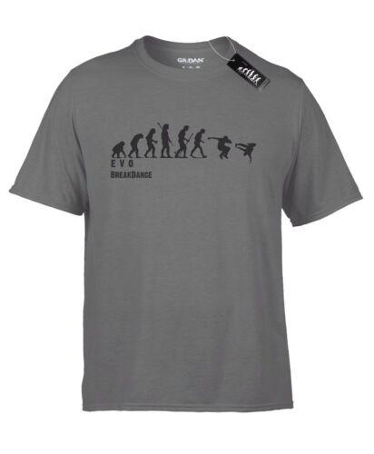 Breakdance Mans EVOLUTION T-Shirt ® Mono Romper bailando-Para hombre Gris carbón.