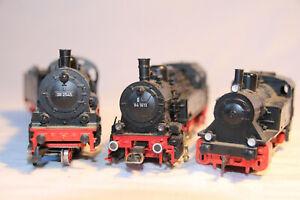 28-3-Dampfloks-BR-38-BR-94-der-DB-von-Maerklin-BR-89-von-Fleischmann-in-H0