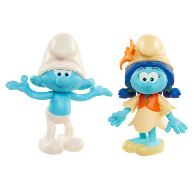 Smurfs The Lost Village 2 Figure Pack - Clumsy Smurf and Smurflily