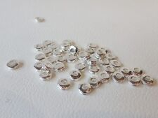 30 pcs x Silver Plated Washer Spacer Beads : AA128 SP