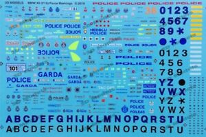 Details about 2D Models Code 3 1/43 Police Forces Decals/Transfers for BMW  X5 (F15) + Garda