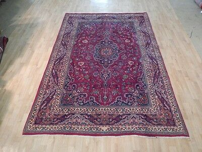 Unique Marvelous Rug 7' x 10' Persian Durable Handmade Red-Blue Iranian Area Rug
