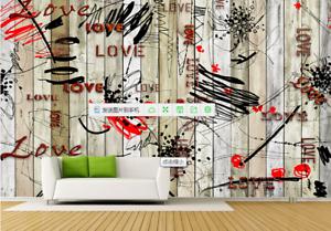 3D Graffiti Holzbrett 59 Tapete Tapeten Mauer Foto Familie Tapete Wandgemälde DE
