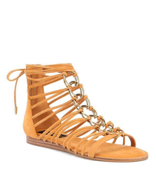 kvinnor Karan Tilly Tilly Tilly gul Kid mocka Gladiator Open Toe Sandals 10  välj från de senaste varumärkena som