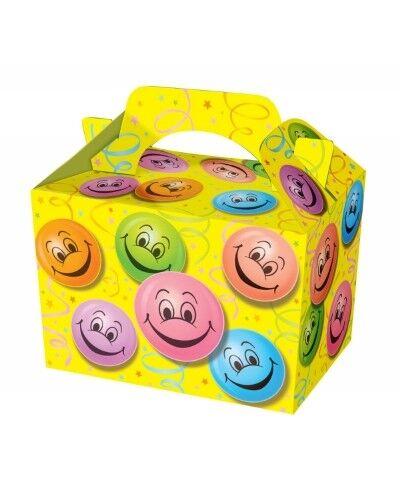 Chicos chicas sonriente cara Picnic Comida Saquear Almuerzo Fiesta Cajas de Regalo Caja