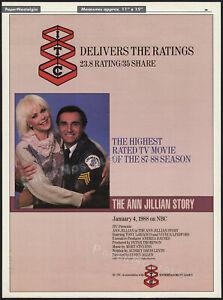 THE ANN JILLIAN STORY__Original 1988 Trade print AD / poster__Tony Lo Bianco