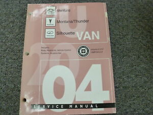 2004 chevy venture pontiac montana restraints body shop service rh ebay com 2004 chevy venture service manual 2004 chevy venture repair manual pdf