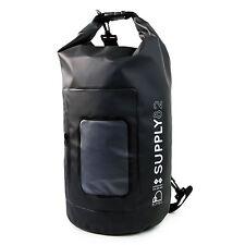 Buhbo Waterproof Dry Bag for Kayak Canoe Backpack Duffle, 15 Liters Black