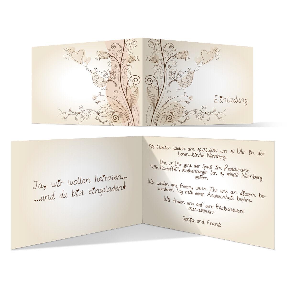Individuelle Hochzeitseinladung Liebesbaum Einladung Hochzeit Einladungskarte   | Modern Und Elegant  | Roman