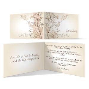 Das Bild Wird Geladen Individuelle Hochzeitseinladung Liebesbaum Einladung  Hochzeit Einladungskarte