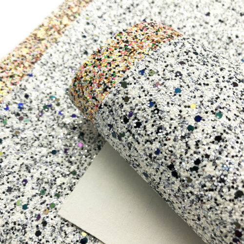 Jewelry Making 20*34 cm Star Glitter Sequins Vinyl Synthetic Leather DIY Crafts