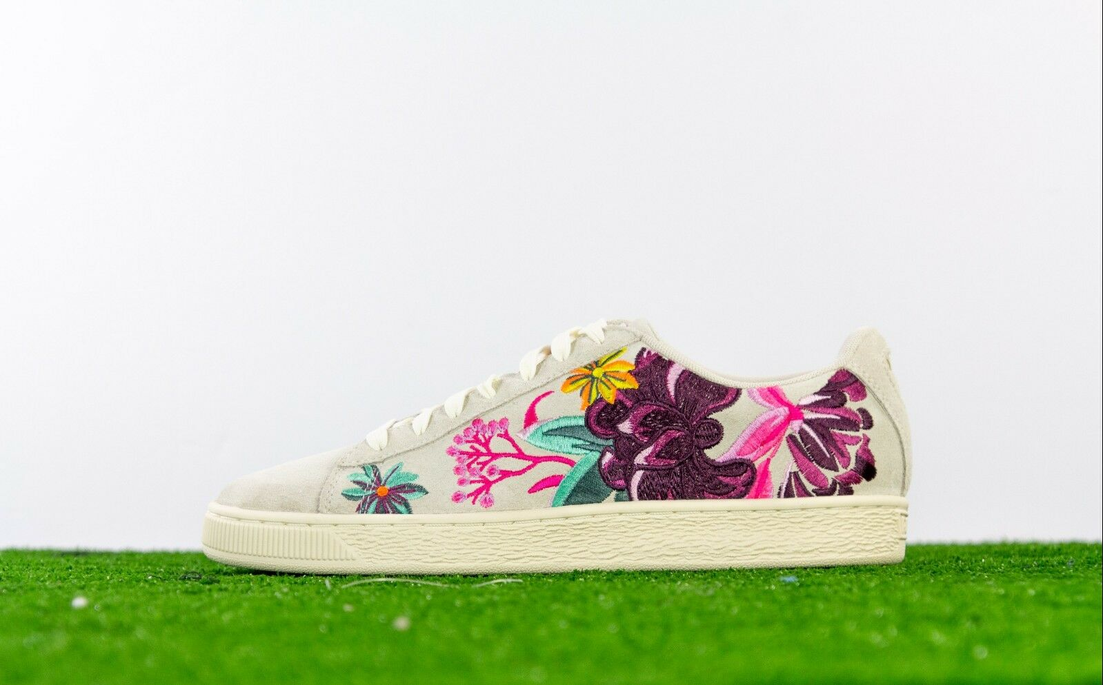 Puma Gamuza Hyper bordar para mujeres Zapatos Whisper blancoo Orquídea Orquídea Orquídea 368137-01 Talla 10  alta calidad