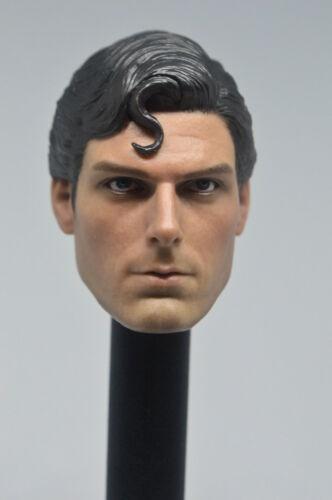 Custom 1//6 Scale DC Superman Clark Kent  Head Sculpt For Hot Toys Body