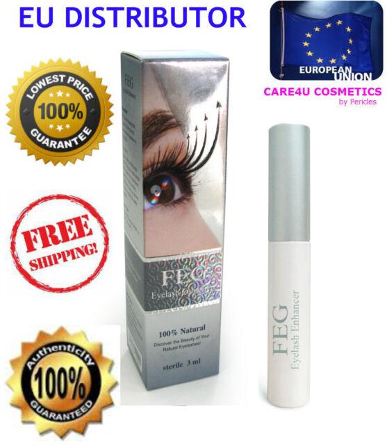 FEG Eyelash Enhancer with ORIGINAL HOLOGRAM Fast Growth Natural AUTHENTIC 3ml