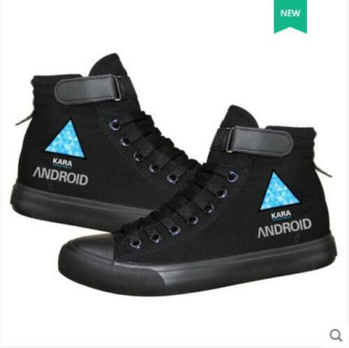 Detroit Become Human Connor shoes Athletic Cosplay Canvas Unisex Sneakers Shoes