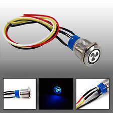 FAN LED 12V ON-OFF INOX ST Push Button pannello personalizzato INTERRUTTORE LIGHT