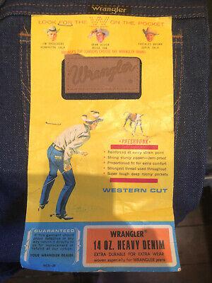 Wrangler Deadstock 1970s Wpl-101 Boot Cut Jeans Blu Denim W28 Il34- Aspetto Estetico