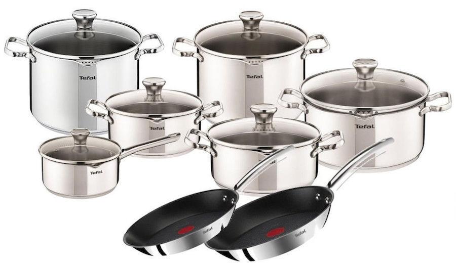 Tefal Duetto casseroles 10 Pièces + casserole élevé (10,1 L) +2 X Poêle 24, 28 cm
