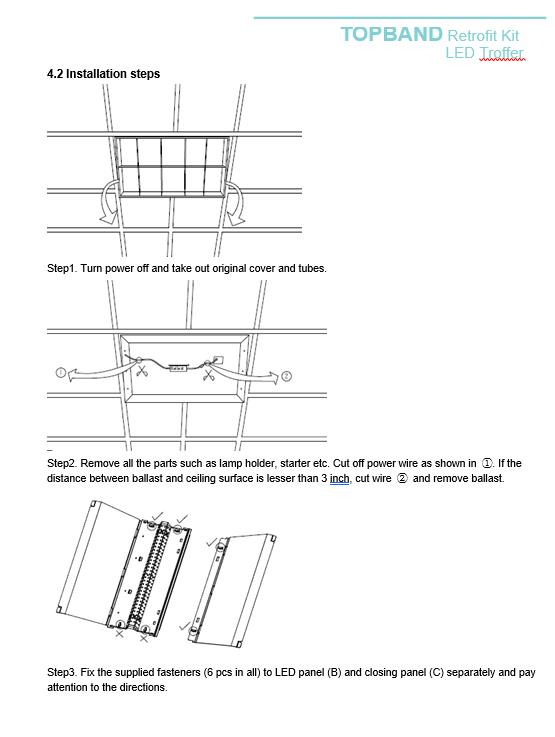 columbia step ballast wiring diagram hubbell lighting lcat22 40mlg edu 2x2 led troffer for sale online  lcat22 40mlg edu 2x2 led troffer
