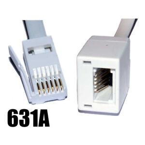 2m BT Telephone Rallonge pour Bureau & Maison Complet 6 Fil Câble [005655] 6lR4peIu-07164650-601800085