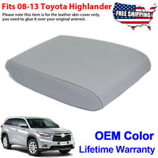 Fits 08-13 Toyota Highlander Beige Leather Synthetic Centr Console Armrest Cover