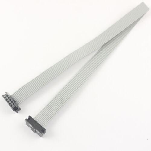 2Pcs 2mm Pitch 2x5 Pin 10 Pin 10 Wire IDC Flat Ribbon Cable Length 30CM