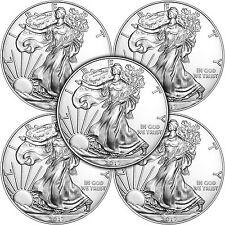 2017 Silver American Eagle BU 5pc