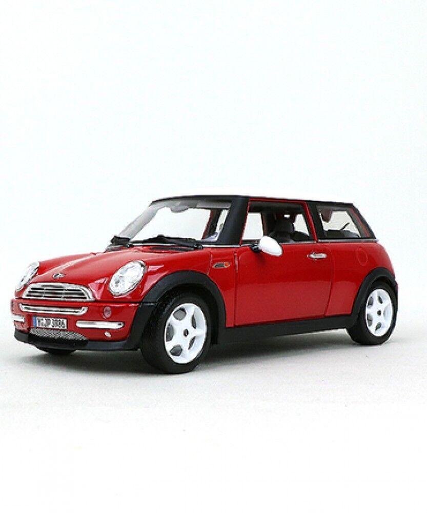 Ny Brago 1  18 skala 2001 Mini Cooper röd BR -18 -12034 modellllerlerl bil Sött japan